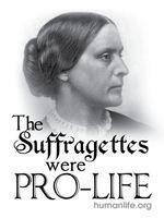 Suffragettes were Pro-Life