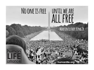 No one is free until we are all free - Martin Luther King Jr. Laptop/Bumper Sticker