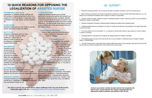 Physician Assisted Suicide Fact Sheet