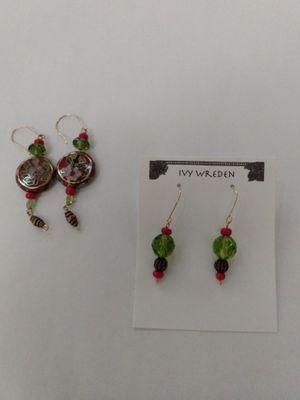 Dangle Earrings Fused Glass