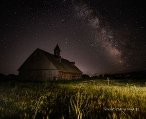 Milky Way over Wingville Barn II
