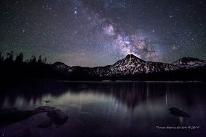Milky Way Over Gunsight Mountain at Anthony Lake