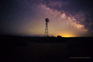 Milky Way Over Windmill