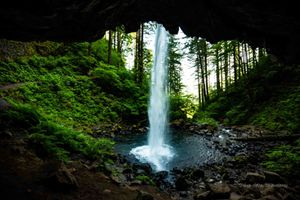 Behind the Falls- Columbia Gorge
