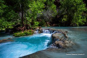The Blue Pool-Havasupai Canyon-Mooney Falls