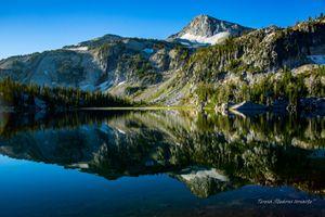 Looking in the Mirror-Mirror Lake-Wallowa Mountains