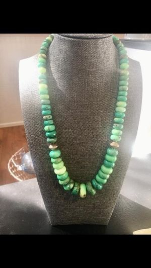 Chyrsoprase necklace