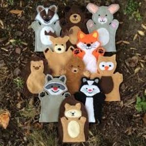 Hand Puppets: Hand Sewn and 3D