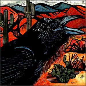 Raven in the Desert
