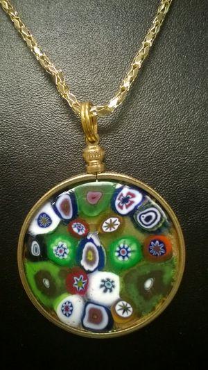 Millefiori Christmas Necklace