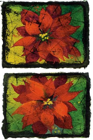 Poinsettia Note Cards