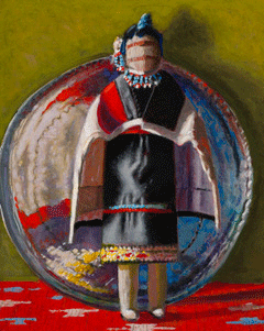 Woman and Platter