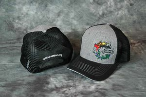 Grey/Black Foundation Ball Cap with wildland firefighter sandwiched in the bill