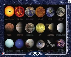 1000 piece puzzle The Solar System