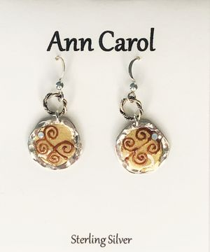 Ann Carol Designs Sterling Epoxy Earrings