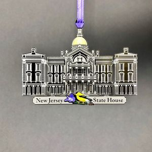 3D New Jersey State House Ornament
