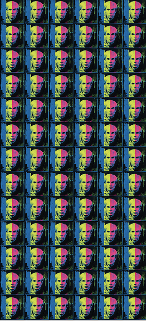 The Lost Warhols Neon Oblong Scarf