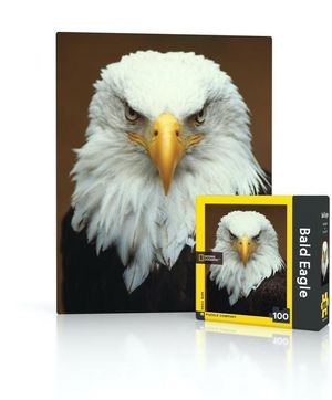 100 piece Mini Puzzle Bald Eagle