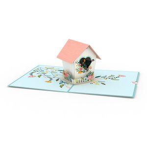 Love Pop Birdhouse Greeting Card