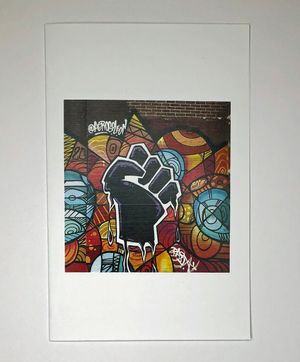 Leon Rainbow Art Notecard of BLM Fist Mural