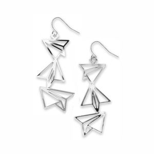 David Howell Paper Airplanes Earrings