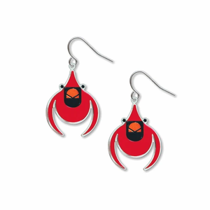 David Howell Charley Harper Cardinal Earrings