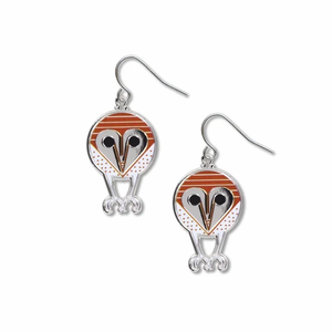 David Howell Barn Owl Earrings