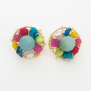 Abra Couture Bead Stud Earrings