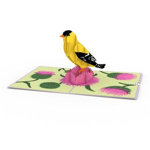 Love Pop Goldfinch Greeting Card