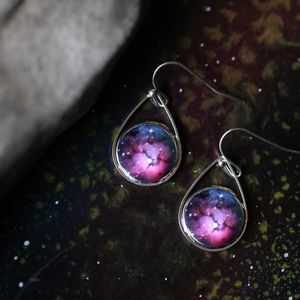 Yūgen  Teardrop Earring - Trifid Nebula, Jupiter, Orion Nebula