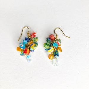 Mosaic Glass Bead Earrings