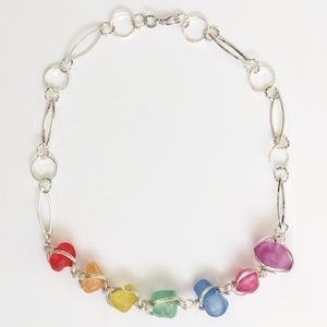 Abra Couture Glass Bead Necklace
