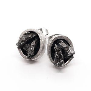 Yūgen Meteorite Chunk Earrings