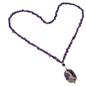 Amethyst Chip & Cape Amethyst Pendant necklace