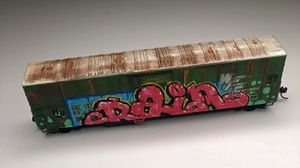 Leon Rainbow Hand-painted box car