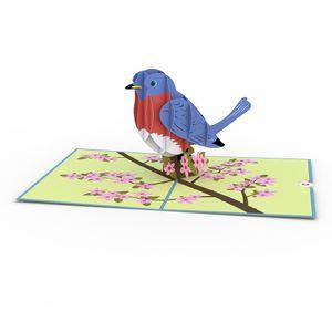 Love Pop Bluebird Greeting Card