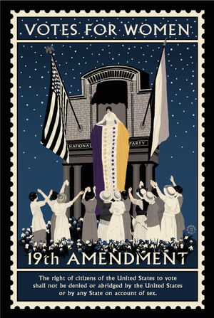 19th Amendment Ratification Illustration
