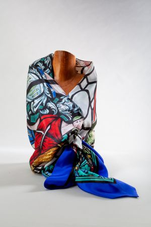 New Jersey Great Seal Silk Scarf