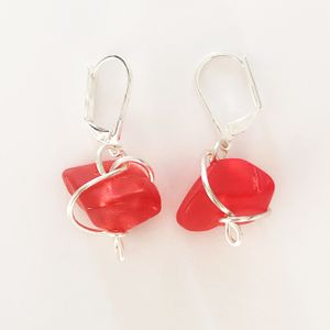 Abra Couture Glass Nugget Earring