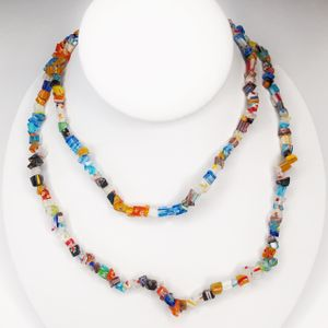 Mosaic Glass  Necklace