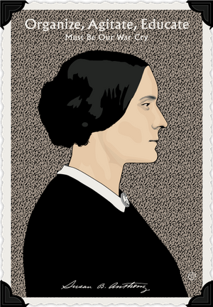 19th Amendment Susan B. Anthony Notecard