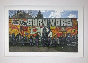 Leon Rainbow Art Notecard of We Are Survivors Mural