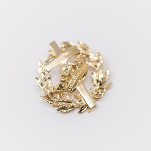 Cross and Crown Wreath Pins