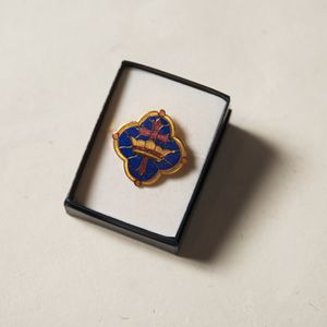 Cross and Crown Enameled Pin
