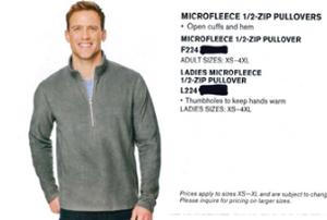 Port Authority Microfleece 1/2 Zip Pullover Black