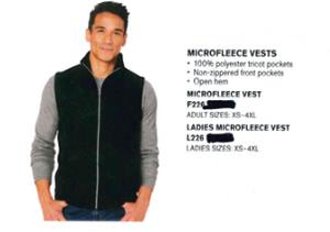 Port Authority Microfleece Vest White