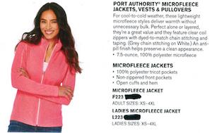 Port Authority Microfleece Jacket Ladies Pearl Grey