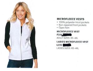 Port Authority Microfleece Vest Ladies Black