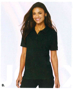 Port Authority Ladies Silk Touch Polo Black