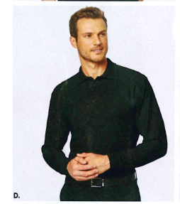 Port Authority Silk Touch Long Sleeve Polo Cool Grey